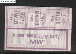 POLAND RATION COUPON 1982-05 TYPE M-W - Supplies And Equipment