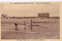 Carte 1930 SAINT JEAN DE MONTS / PLAGE DES DEMOISELLES - LA PECHE AUX PIGNONS - Saint Jean De Monts