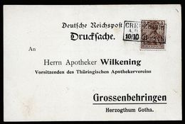 A5281) DR Karte Creuzburg 10.10.01 Nachverwendeter Stempel - Briefe U. Dokumente