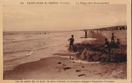 Carte 1930 SAINT JEAN DE MONTS / PLAGE DES DEMOISELLES - SUR LE SABLE FIN ET DORE - Saint Jean De Monts