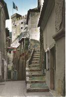 ROQUEBRUNNE-VILLAGE. La Rue De La Fontaine. Au Fond: Le Donjon Du Vieux Château. (scan Verso) - Roquebrune-Cap-Martin