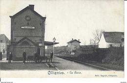 OLLIGNIES (Lessines) La Gare (TOP RARE) Edit. Baguet Ollignies - Lessines