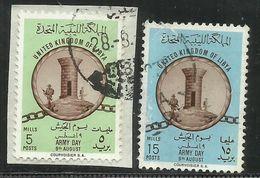 KINGDOM OF LIBYA REGNO UNITO DI LIBIA 1961 GIORNATA DELL'ARMATA ESERCITO ARMY DAY SERIE SET USATA USED OBLITERE' - Libië