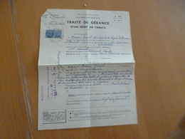 Traité De Gérance D'un Débit  De Tabac Montpellier 1961 - Documents