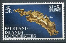 225 FALKLAND Dependances1982 - Yvert 115 - Carte De La Georgie Du Sud - Neuf **(MNH) Sans Charniere - Falkland Islands