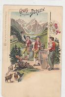 Gruss Aus Den Bergen (Appenzell) - Litho  - Künzli         (P-123-60927) - Souvenir De...