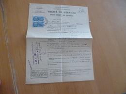 Traité De Gérance D'un Débit  De Tabac Montpellier 1960 - Documents