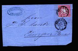 A5287) AD Württemberg Briefvorderseite Heilbronn 27.10.65 - Wuerttemberg