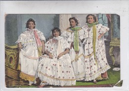 PANAMA. LA POLLERA. NATIVE COSTUMES. I L MADURO JR. No 5198. FOLK FOLKLORE-TBE-BLEUP - Panama