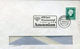 32248 Bis/nederland, Special Postmark 1986 Amsterdam, Diamond, Diamantes, Geology - Minerali