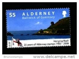 ALDERNEY - 2010  55 P. ANNIVERSARY OF ALDERNEY STAMPS  MINT NH - Alderney