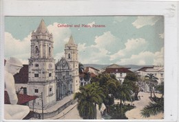 PANAMA. CATHEDRAL AND PLAZA. I L MADURO JR.-TBE-BLEUP - Panama