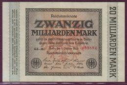 ALLEMAGNE - Rep. De Weimar - 20 Million De Mark 01/10/1923 - P.118a - [ 3] 1918-1933 : República De Weimar