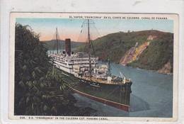 PANAMA. EL VAPOR FRANCONIA EN EL CORTE DE CULEBRA, CANAL DE PANAMA. 33B. I L MADURO JR. VOYAGEE-TBE-BLEUP - Panama