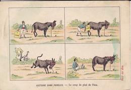 """RARE-CALENDRIER Les 6 Premiers Mois De 1904--MARSEILLE-Maison JOUNET-savons """" La Grappe """"-( âne )-voir 2 Scans - Autres"""