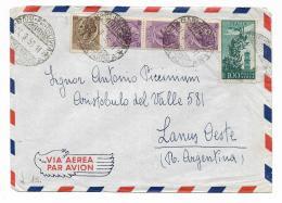 FRANCOBOLLI LIRE 20 + LIRE 25 E LIRE 100 SU BUSTA 1955 - 6. 1946-.. Repubblica