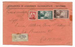 LIRE 50 + 25 + 10 SU BUSTA 1950 - 6. 1946-.. Repubblica