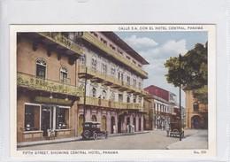PANAMA. CALLE 5 A CONEL HOTEL CENTRAL. No 316. I L MADURO JR.-TBE-BLEUP - Panama