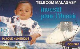 CARTE-PUCE-25U--SC7-MADAGASCAR-PLAQUE NUMERIQUE-ENFANT-300000Ex-UTILISE-BE - Madagascar