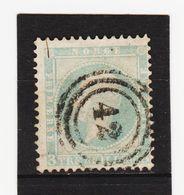 AUA450  NORWEGEN 1856  MICHL 3 Used / Gestempelt  ZÄHNUNG Siehe ABBILDUNG - Norwegen