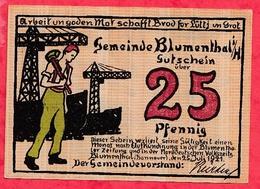 Allemagne 1 Notgeld 25 Pfenning  Stadt Blumenthal UNC Lot N °487 - Collections
