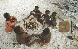 CARTE-PUCE-150U--OB2-MADAGASCAR-ENFANTS DE PECHEURS-50000Ex-UTILISE-TBE-LUXE - Madagascar