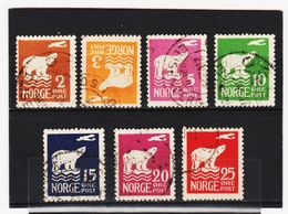 AUA452  NORWEGEN 1925  MICHL 109/15 Gestempelt  ZÄHNUNG Siehe ABBILDUNG - Norwegen