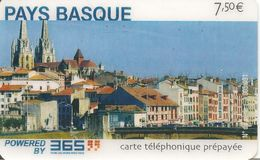 CARTE-PREPAYEE-FRANCE-365  -7,50€;-PAYS BASQUE-Exp31/12/2004-GRATTEE-TBE-LUXE-RARE - Autres Prépayées
