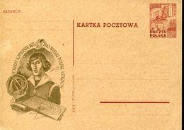 32268 Poland,  Stationery Card 60gr. 1953   Kopernic Kopernikus Copernic - Astronomy