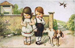 Bambini E Cane - Viaggiata In Busta 12/1927 - Bertiglia, A.