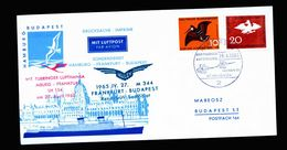 A5296) Bund Karte Sonderflug 27.4.65 N. Budapest - Briefe U. Dokumente