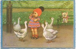 Bambina Con Oche - Viaggiata 1930 - Colombo, E.