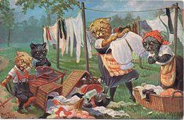 2 Cartoline Serie Gatti - Non Viaggiate - Thiele, Arthur