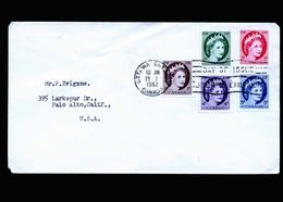 A5297) Kanada Canada FDC Ottawa 13.1.62 To US - 1952-.... Regno Di Elizabeth II
