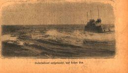 Unterseeboot Aufgetaucht, Auf Hoher See /Druck,entnommen Aus Zeitschrift /Datum Unbekannt - Books, Magazines, Comics