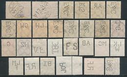 D. Reich Ab Nr. 113 Mit Firmenlochungen / Perfins (28 Stück) - Usados