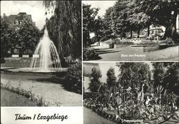 41235463 Thum Erzgebirge Platz Des Friedens, Kaktengarten, Springbrunnen Thum Er - Allemagne
