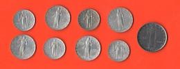 Vaticano Vatikan State Lotto 9 Monete Papa Pio XII° E Giovanni XXIII° - Vatican