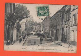 ET/168 CALVADOS LISIEUX  LA CIDRERIE GUERET ET LE BOULEVARD SAINTE ANNE / écrite 1916 Timbre - Lisieux