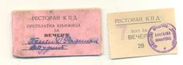 POZAREVAC - BON COUPON PRISON VOUCHER FOR FOOD FOR A WOMEN VERY RARE - Serbie