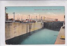 PANAMA. APPROACH TO UPPER LOCKS, GATUN, PANAMA CANAL. I L MADURO JR. No 5832.-TBE-BLEUP - Panama