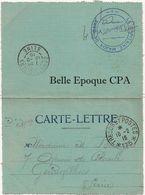 Militaria / CARTE-LETTRE - 1916 +++ FROISSY ---> GENNEVILLIERS +++ FM / Capitaine-Major De Gare / Trésor Et Postes 175 - Marcophilie (Lettres)