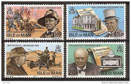 ISLE Of MAN 1974 - Sir WINSTON CHURCHILL - 4v Mi 48-51 MNH ** Cv€1,20 N108 - Man (Insel)