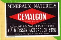 BUVARD & Blotting Paper :Mineraux Naturels Pour Betail CEMALGON  HAZEBROUCK - Agriculture