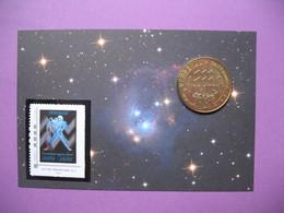 Pièce De Collection Aubagne Philatélie   N° 83/120  Signe Du Zodiaque Verseau  (Nous Aimons )  Avec Timbre - France