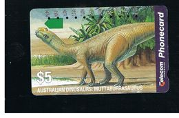 AUSTRALIA - ANIMALS: MUTTABURRASAURUS - USED  - RIF. 10303 - Australia