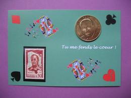"""Pièce De Collection Aubagne Philatélie   N° 103/120 """" Tu Me Fends Le Coeur """" Raimu   Avec Timbre - France"""