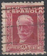 España 1932 Edifil 667 Sello º Personajes Pablo Iglesias 25c Republica Spain Stamps Timbre Espagne Briefmarke Spanien - 1931-Hoy: 2ª República - ... Juan Carlos I