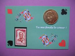 """Pièce De Collection Aubagne Philatélie   N° 104/120 """" Tu Me Fends Le Coeur """" Raimu   Avec Timbre - France"""