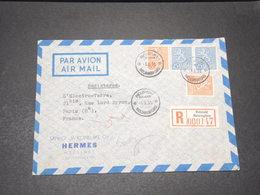 FINLANDE - Enveloppe En Recommandé De Helsinki Pour La France En 1955 , Par Avion - L 15513 - Finland